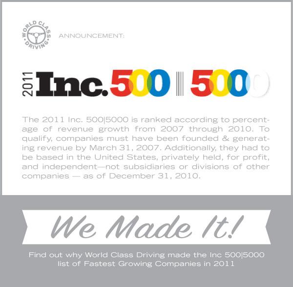 WCD Earns Inc. 500|5000 List Honor