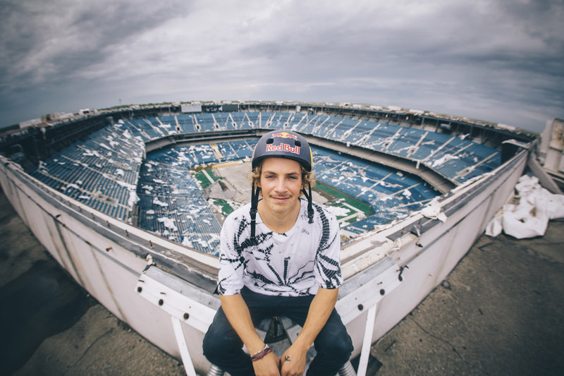 Up-and-coming professional BMX rider and Michigan native Tyler Fernengel is the last professional athlete to perform inside the famed Silverdome — former home of the Detroit Lions, Wrestlemania III (and scene of Hulk Hogan's epic bodyslam of Andre the Giant), Supercross and World Cup soccer games before the stadium was shut down for good just a few years ago.